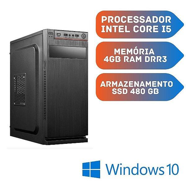 Cpu Core i5 4gb Ram Ssd 480gb Windows 10 + Frete Grátis!