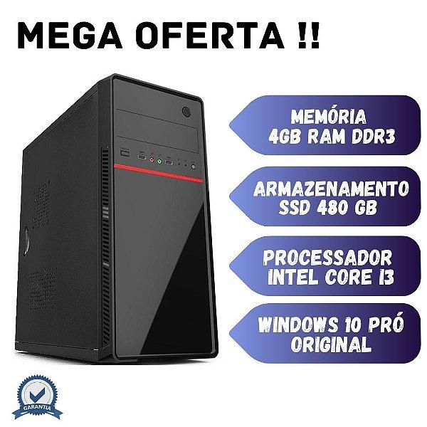 Cpu Montada Core i3 4gb Ssd 480 Windows 10 - Home Office!