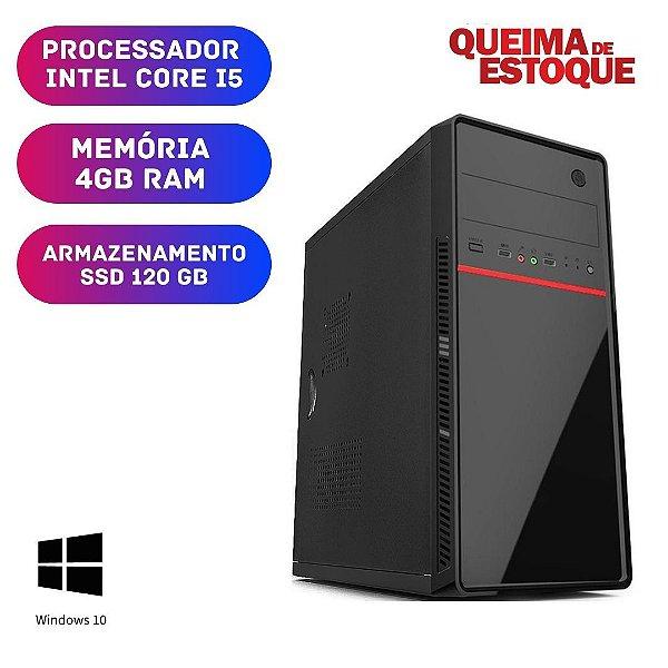 Computador Pc Desktop Cpu i5 4gb SSd 120gb Windows 10 Pró !!