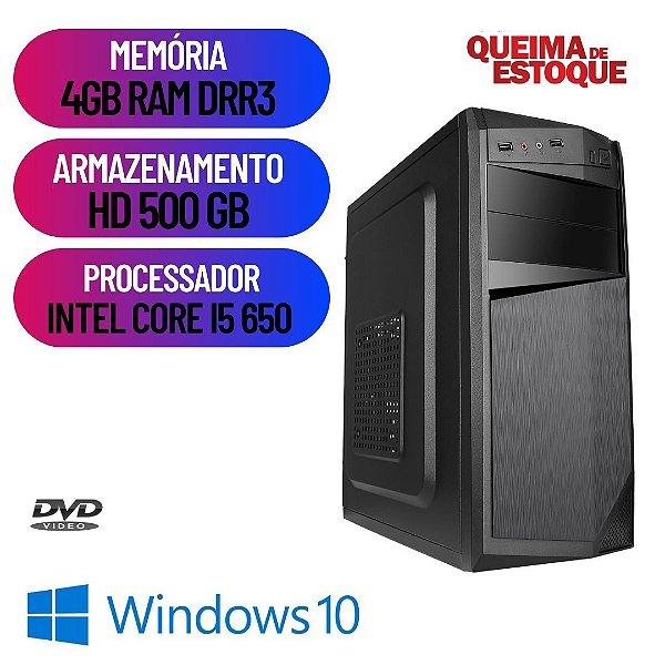 Computador Desktop Cpu Pc Montada i5 4gb Hd 500 Window 10