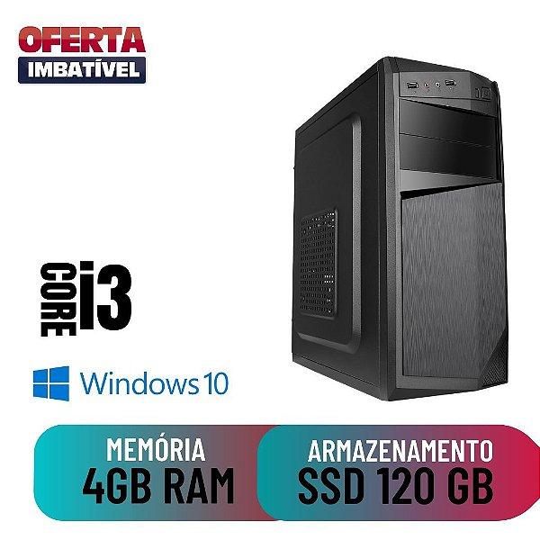 Computador Desktop Cpu Pc i3 4gb SSd 120 Windows 10 Pró Star