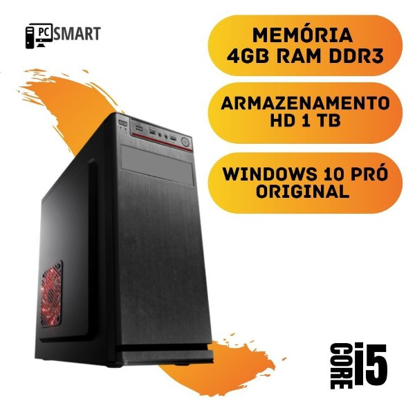 Computador Cpu Pc Desktop Star i5 4gb Hd 1tb Windows 10