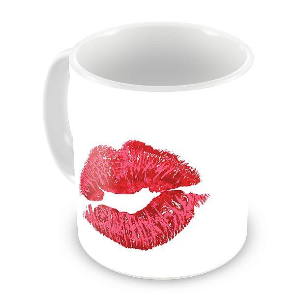 Caneca Branca - Beijo