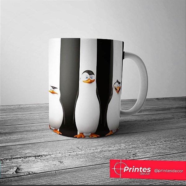 Caneca Branca - Os Pinguins de Madagascar