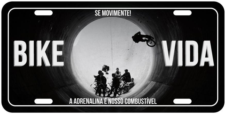 """Placa Decorativa Bike """"Bike Vida"""""""