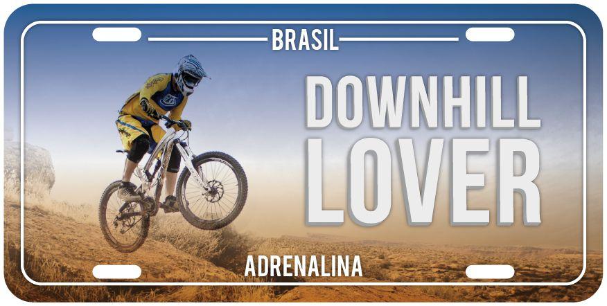 "Placa Decorativa Bike ""Downhill Lover"""
