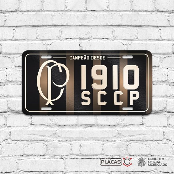"""Placa Decorativa Corinthians """"SCCP 1910"""""""