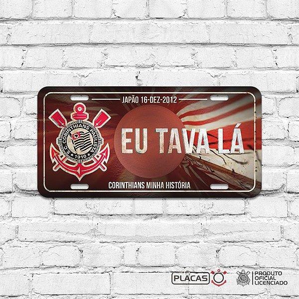 """Placa Decorativa Corinthians """"JAPÃO 2012"""""""