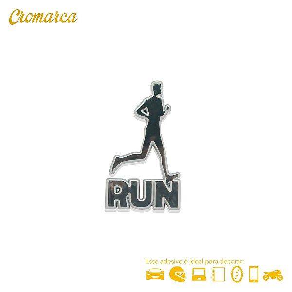 Adesivo CROMADO - Run Masculino