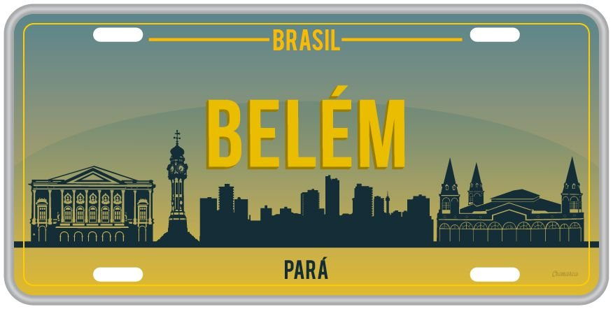 Placa Decorativa Turismo - BELÉM DO PARÁ