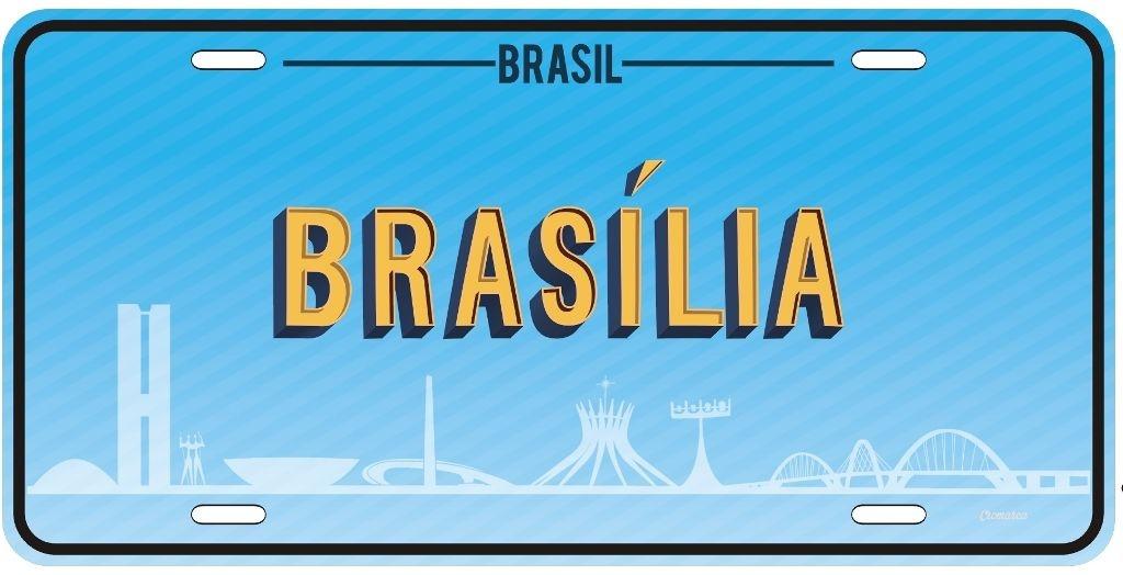 Placa Decorativa BRASÍLIA