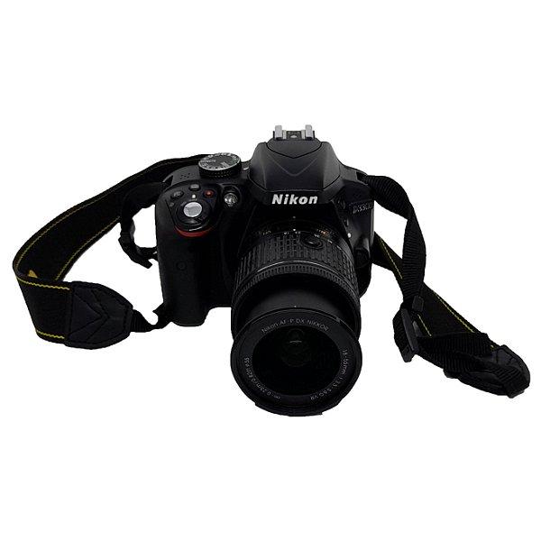 Máquina Fotográfica Nikon D3300 + AF-P NIKKOR 18-55mm