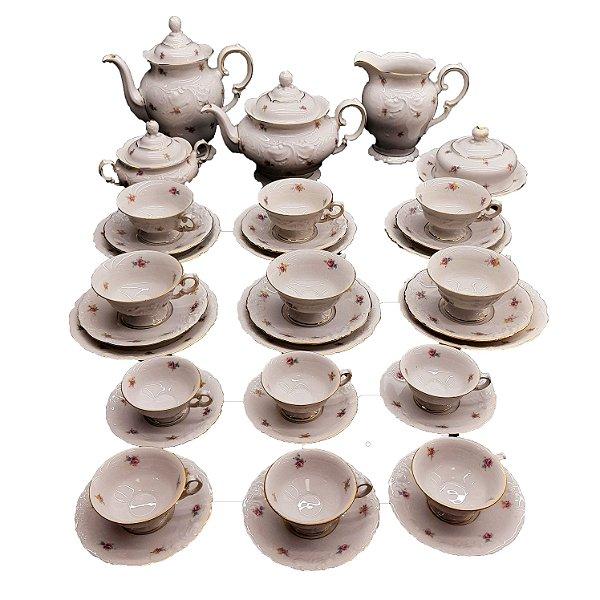 Conjunto de Café e Chá de Porcelana Polinésia KPM 53 peças