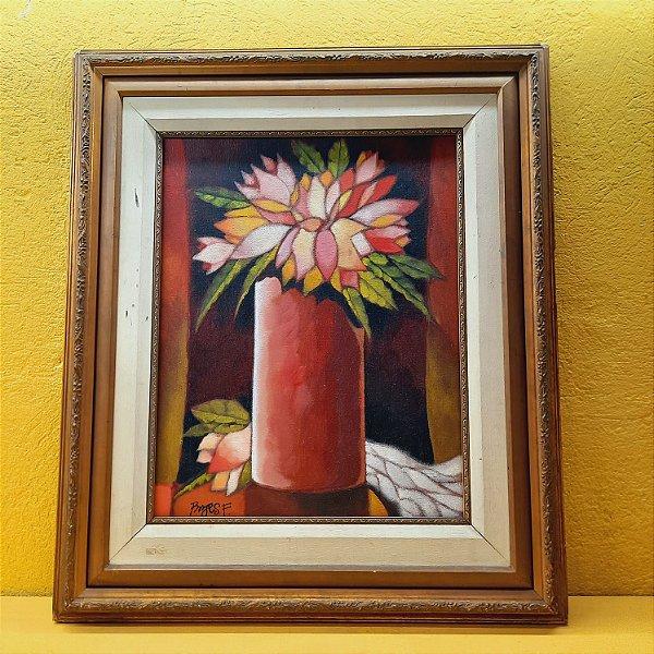 Quadro Borges Filho Vaso com Flores
