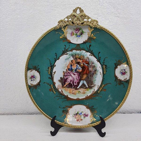 Prato de Parede Porcelana Limoges Anos 70
