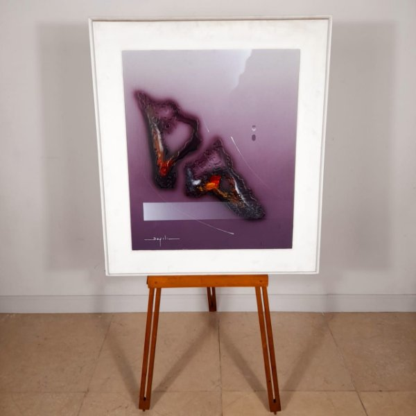Quadro Abstrato Artista Defili Emoldurado