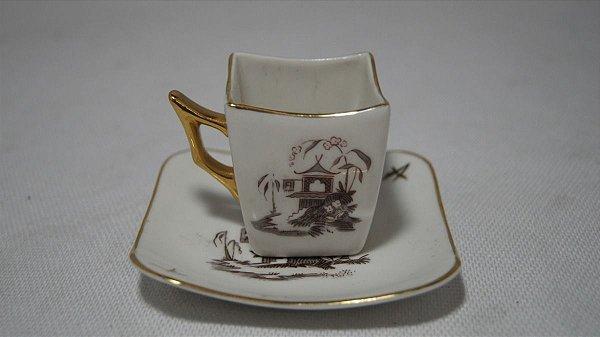 Xícara Chá Café Com Pires Porcelana Condessa Desenho China