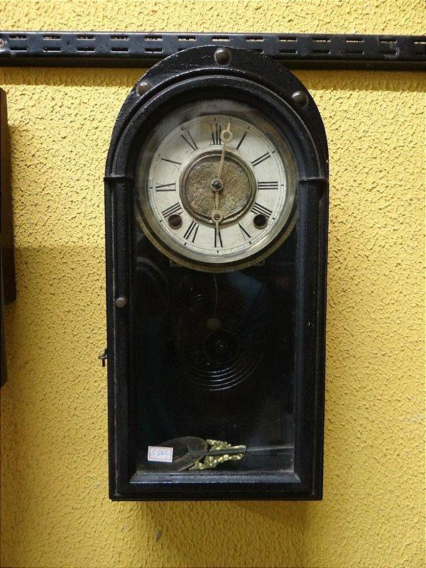 Antigo Relógio De Parede Carrilhão Em Madeira