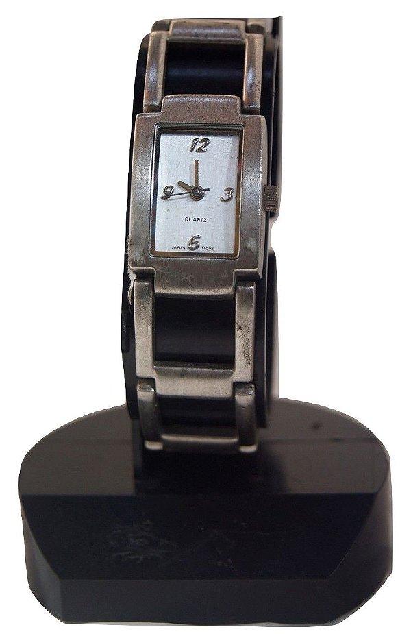 antigo Relógio de pulso prateado feminino