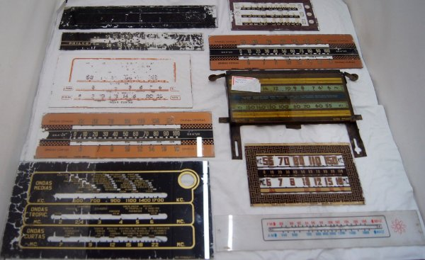 Frente Para Radio Antigo Dial De Vidro Original