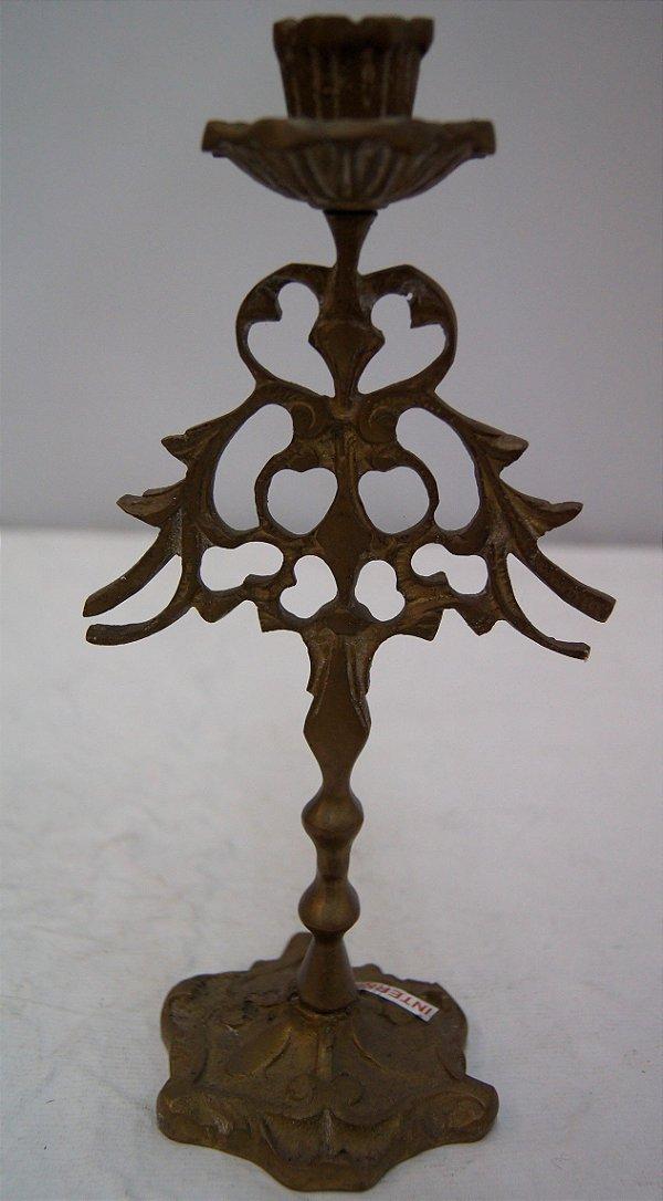 Castiçal De Bronze Maciço 1 Vela