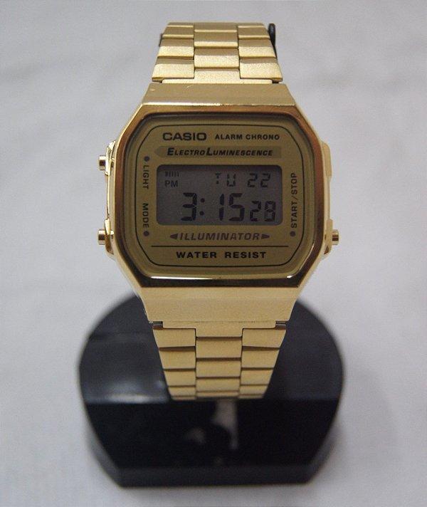 Relógio De Pulso Casio Electro Luminescence Dourado