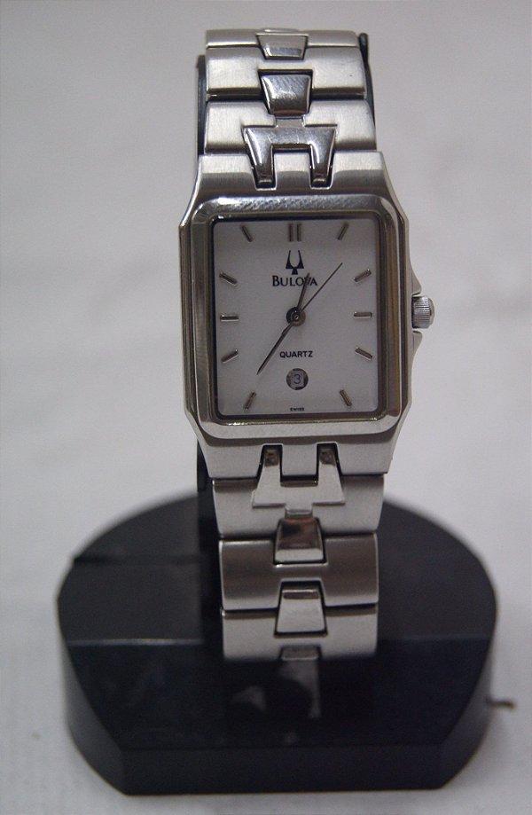 Relógio De Pulso Suíço Bulova Aço Prata
