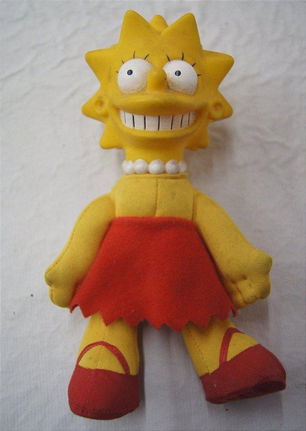 Boneco De Pelúcia Para Coleção Lisa Simpson 22 Cm