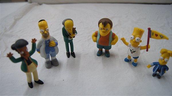Coleção Os Simpsons 6 Bonecos Em Resina
