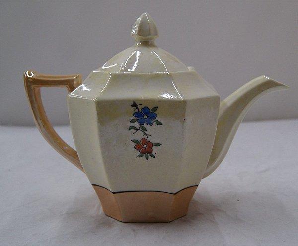 Antigo Bule Para Chá De Porcelana Japonês Pássaro