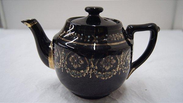 Antigo Bule Para Chá De Porcelana Japonesa Pintado A Mão