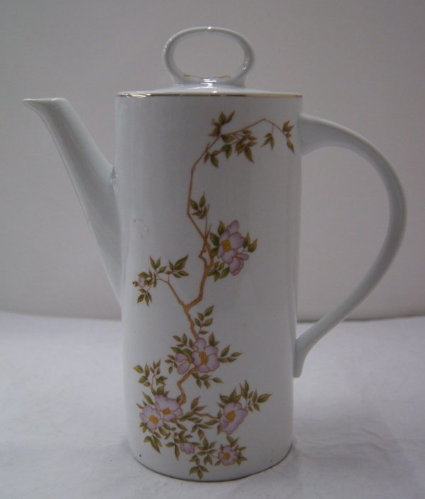 Antigo Bule Para Chá De Porcelana Schmidt Flores