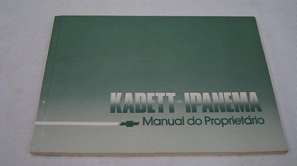 Manual Do Proprietário Kadett Ipanema 1985-1990