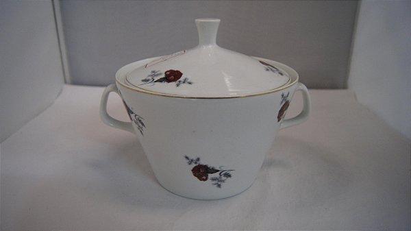 Sopeira Em Porcelana Steatita Rosas - Antiga