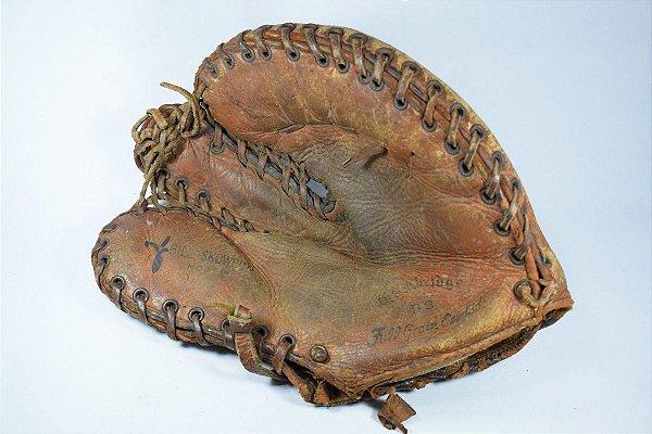 Luva De Beisebol Antiga Decada De 30 Em Couro