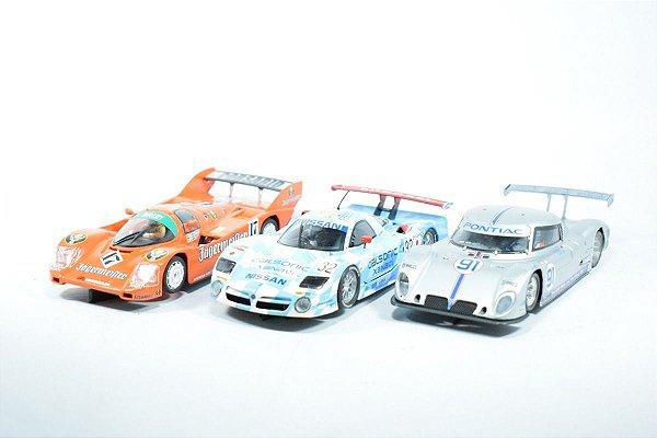 Kit Autorama Sideways Slot Cars 4 Carrinhos + Kit Manutenção + 1 Motor