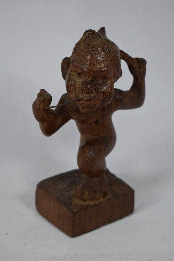 Escultura Saci Em Jacarandá