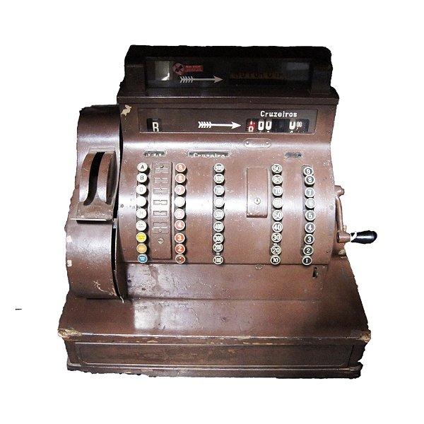 Antiga Máquina Caixa Registradora National 1 Gaveta