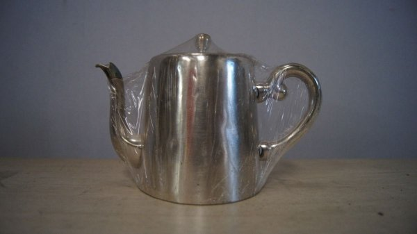 Antigo Mini Bule Wolff Banhado A Prata 90 Para Café Chá