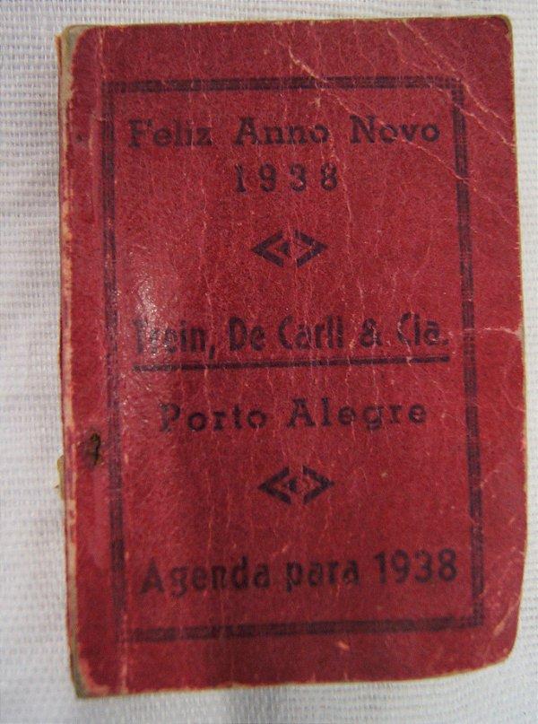 Agenda Antiga De 1938 Trein, De Carli & Cia