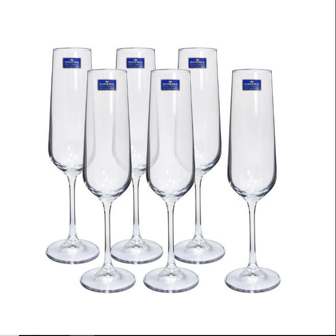 Tacas Champagne Cristal Tori Titanium