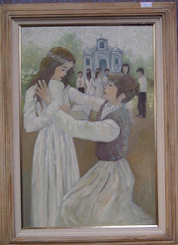 Quadro Tela Pintura a Óleo Moças Dançando por Fernando Roma
