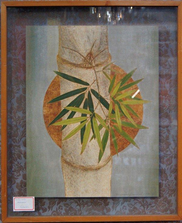 Quadro Desenho Bambu Por Susumo Harapa
