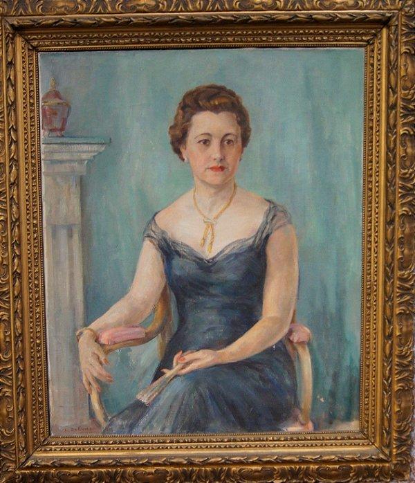 Theodoro De Bona - Quadro Pintura Esposa De João Turin