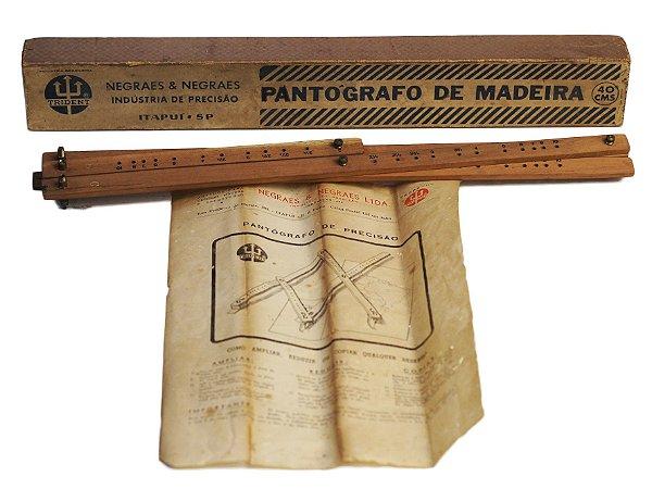 Antigo Pantógrafo Trident De Madeira (Negraes)