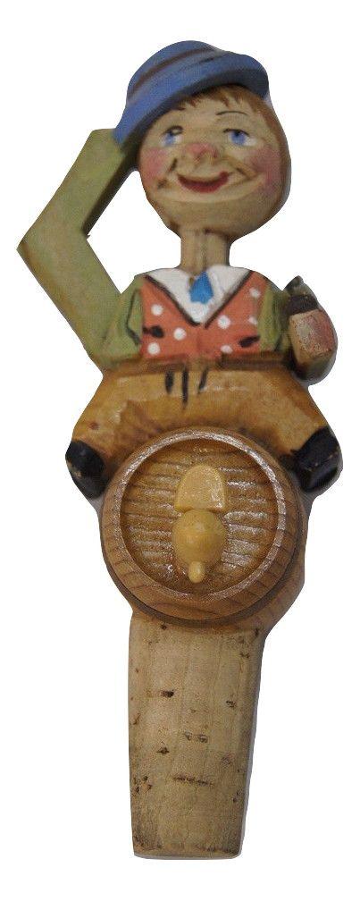 Enfeite Para Rolha de Madeira Homem De Chapéu