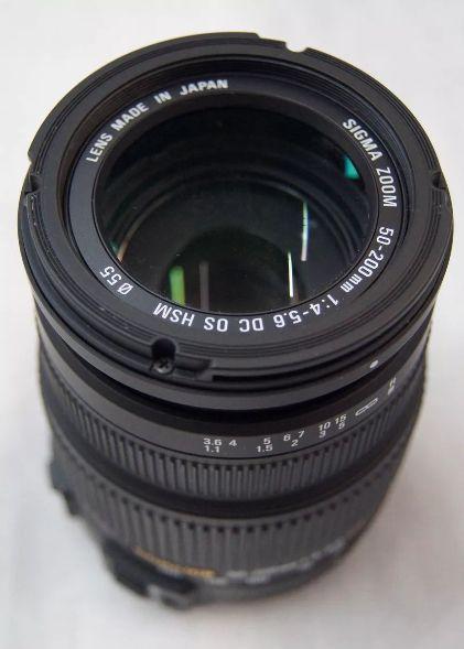 Lente Para Câmera sigma 50 -200mm  1: 4 - 5.6 dc