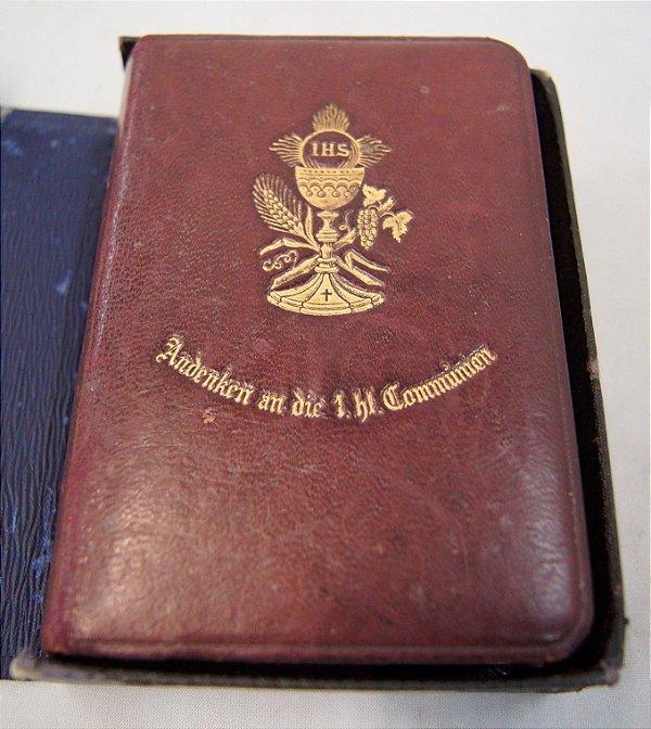 Missal Bíblia Antiga Alemã De 1890 Folhas Bordas De Ouro