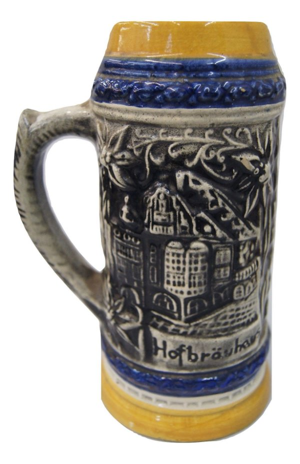 Caneca Cerveja Alemã De Cerâmica Antiga