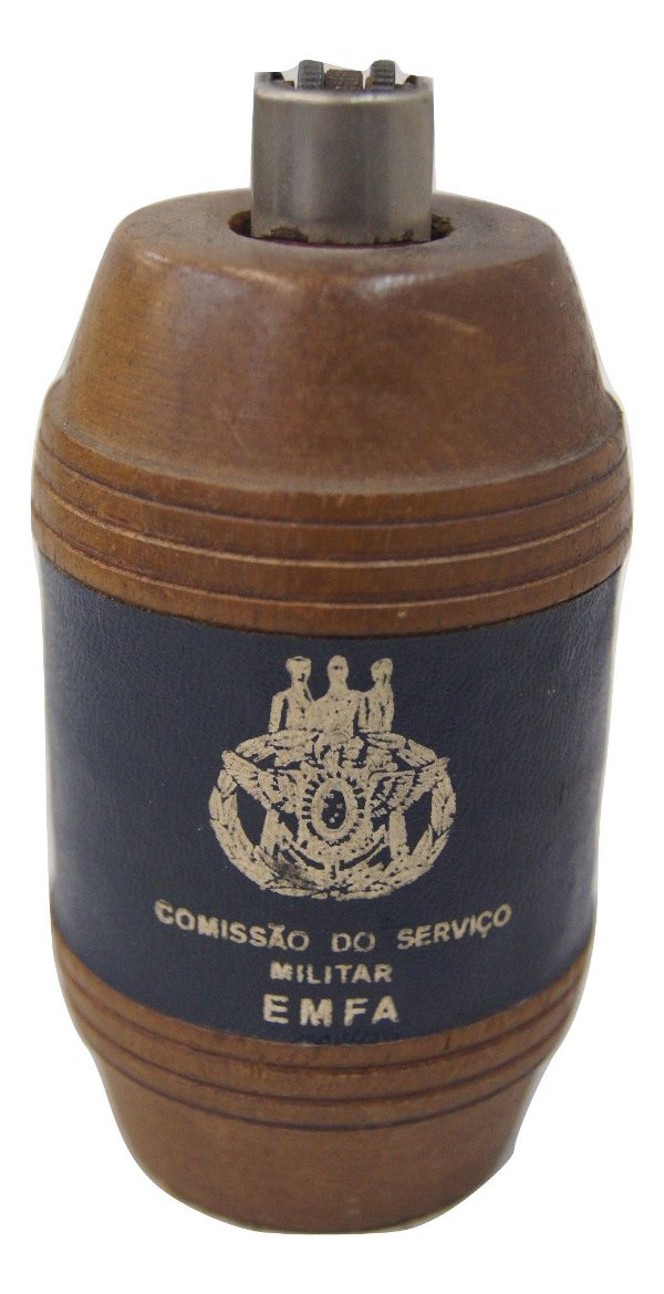 Porta Isqueiro Formato Barril - Comissão do Serviço Militar